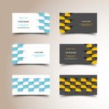 Sistema de la tarjeta de visita del taxi Foto de archivo libre de regalías