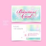 Sistema de la tarjeta de visita del vector del estilo de la princesa Foto de archivo
