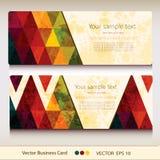 Sistema de la tarjeta de visita geométrica abstracta stock de ilustración