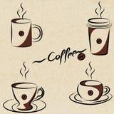 Sistema de la taza de café. ilustración del vector