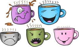 Sistema de la taza de café Fotografía de archivo libre de regalías