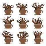 Sistema de la taza de café Imagen de archivo libre de regalías