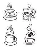 Sistema de la taza de café Fotos de archivo