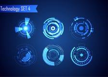 Sistema de la tecnología de Digitaces del extracto del círculo UI HUD Virt futurista libre illustration
