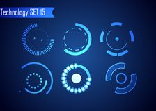 Sistema de la tecnología de Digitaces del extracto del círculo UI HUD Virt futurista ilustración del vector