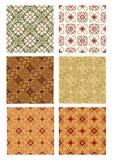 Sistema de la teja decorativa del fondo del art déco del vintage Imagen de archivo libre de regalías
