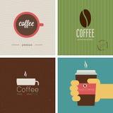 Sistema de la tienda de Coffe Ilustración del vector Fotografía de archivo libre de regalías