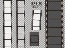 Sistema de la tira de la película del vector aislada en fondo transparente Foto de archivo libre de regalías