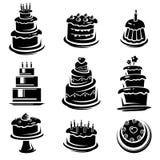 Sistema de la torta. Vector Imágenes de archivo libres de regalías