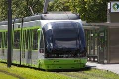Sistema de la tranvía - Bilbao - España Imagen de archivo libre de regalías