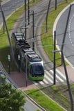 Sistema de la tranvía - Bilbao - España Foto de archivo libre de regalías