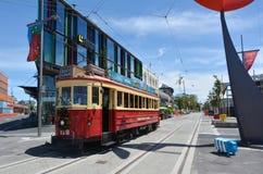 Sistema de la tranvía del tranvía de Christchurch - Nueva Zelanda fotografía de archivo