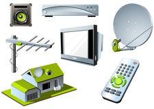 Sistema de la TV Fotografía de archivo libre de regalías