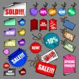 Sistema de la venta de etiquetas ilustración del vector