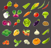Sistema de la verdura de la historieta Foto de archivo libre de regalías