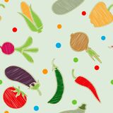 Sistema de la verdura Vector Maíz, cebolla, pimienta, guisantes, chile, coliflor, calabacín, tomate, calabaza, remolacha, zanahor fotos de archivo