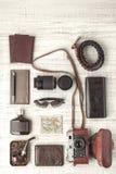 Sistema de la vertical del viajero del hombre Fotos de archivo libres de regalías