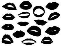 Sistema de labios de la mujer Foto de archivo libre de regalías