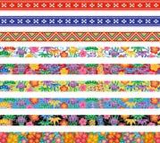Sistema de las banderas de Bingata. Foto de archivo libre de regalías