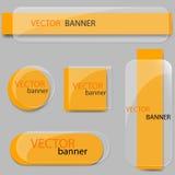 Sistema de las banderas de cristal Fotografía de archivo libre de regalías