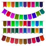 Sistema de las banderas multicoloras para el diseño Foto de archivo libre de regalías