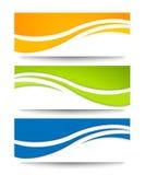 Sistema de las banderas para su diseño. Fotos de archivo