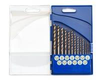 Sistema de las brocas para el metal Imagen de archivo libre de regalías