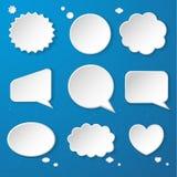 Sistema de las burbujas de papel del discurso Imagen de archivo libre de regalías