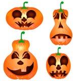 Sistema de las calabazas para Halloween Foto de archivo