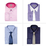 Sistema de las camisas de los hombres aisladas en el fondo blanco en el fondo blanco Fotos de archivo libres de regalías