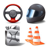 Sistema de las carreras de coches Foto de archivo