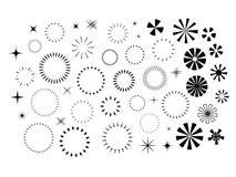 Sistema de las chispas y de Starbursts libre illustration