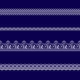 Sistema de las cintas blancas del cordón Fotos de archivo libres de regalías