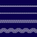 Sistema de las cintas blancas del cordón Fotografía de archivo libre de regalías