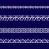 Sistema de las cintas blancas del cordón fotos de archivo