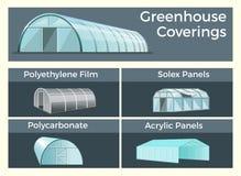 Sistema de las cubiertas de los invernaderos ilustración del vector