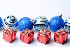 Sistema de las decoraciones de la Navidad y del Año Nuevo Fotografía de archivo libre de regalías