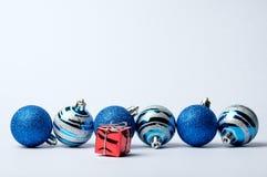 Sistema de las decoraciones de la Navidad y del Año Nuevo Imágenes de archivo libres de regalías