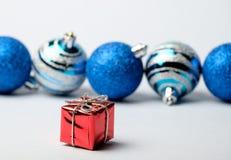 Sistema de las decoraciones de la Navidad y del Año Nuevo Fotos de archivo libres de regalías