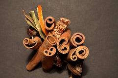 Sistema de las especias para el vino reflexionado sobre, Fotos de archivo libres de regalías