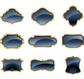 Sistema de las etiquetas de cristal Imágenes de archivo libres de regalías