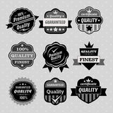 Sistema de las etiquetas del premio y de la calidad, de los emblemas y del sello Imagen de archivo libre de regalías