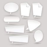 Sistema de las etiquetas engomadas del color del Web - etiquetas - etiquetas - burbuja Imagen de archivo libre de regalías