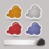Sistema de las etiquetas engomadas del color del Web - etiquetas - etiquetas - burbuja Fotografía de archivo