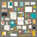 Sistema de las etiquetas engomadas, tarjetas de los recordatorios Fotos de archivo libres de regalías