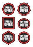 Sistema de las etiquetas de la oferta especial foto de archivo libre de regalías