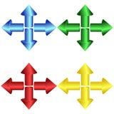 Sistema de las flechas redondas coloridas 3d libre illustration