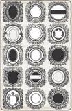 Sistema de las guirnaldas gráficas del vintage para los logotipos stock de ilustración