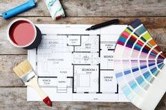 Sistema de las herramientas del ` s del decorador y del dibujo del proyecto imagenes de archivo