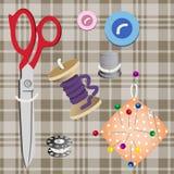 Sistema de las herramientas para coser Imagenes de archivo